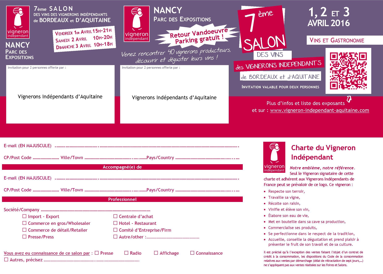 Salon vins bordeaux et aquitaine nancy parc des - Salon des vignerons independants bordeaux ...